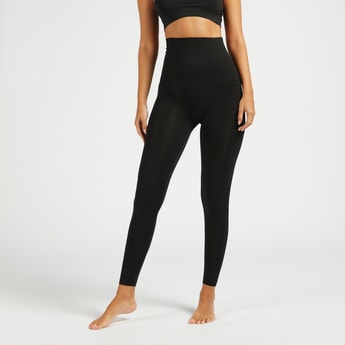Solid Full Length Leg Shaper with Elasticised Waistband