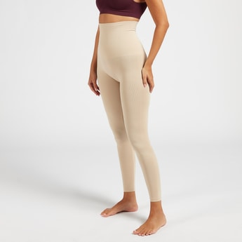 Solid Shaping Leggings with Elasticised Waistband