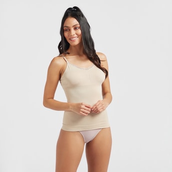 Solid V-neck Shaping Camisole