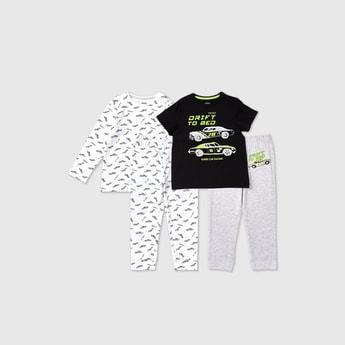 Set of 2 - Graphic Print T-shirt and Pyjamas