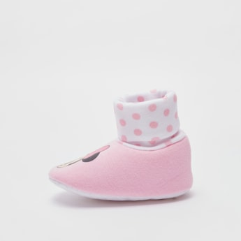 Minnie Mouse Print Booties