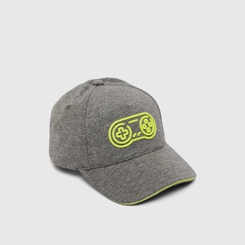 Textured Baseball Cap with Eyelets