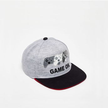 Printed Baseball Cap with Snap Closure