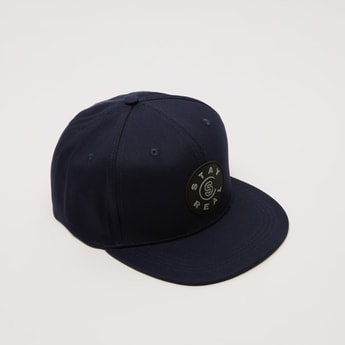 Applique Detail Cap with Hook and Loop Closure