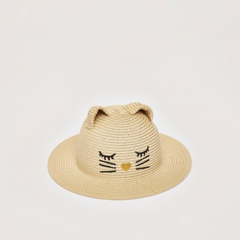 Animal Face Textured Round Hat