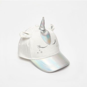 Unicorn Textured Cap with with Snap Closure