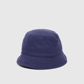 Solid Bucket Hat with Stitch Detail