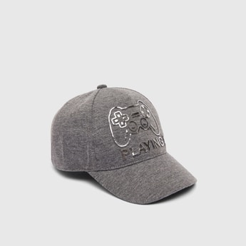 Printed Baseball Cap with Hook and Loop Closure