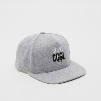 Slogan Embroidered Baseball Cap with Eyelets