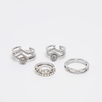 Set of 7 - Assorted and Embellished Finger Ring