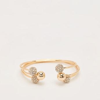Pack of 3 - Stud Detail Open Cuff Bracelet