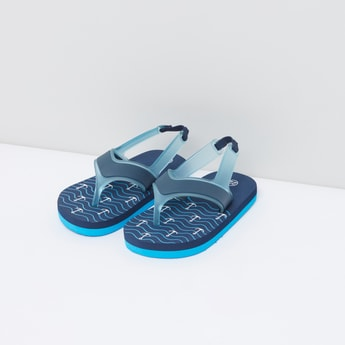 Printed Flip Flops with Back Strap