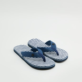 Striped Strap Slides