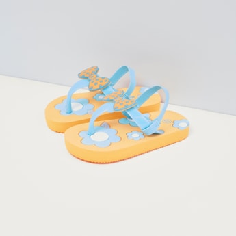 Bow Detail Flip Flops with Slingback