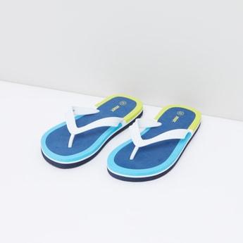 Colour Blocked Flip Flops
