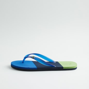 Printed Slippers with Textured Insole