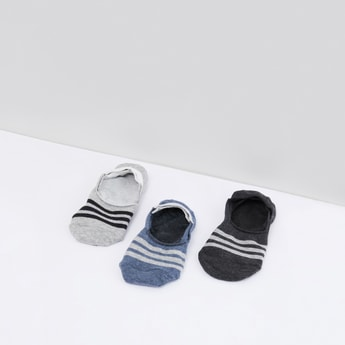 Set of 3 - Striped No Show Socks
