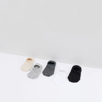 Set of 5 - Plain No Show Socks