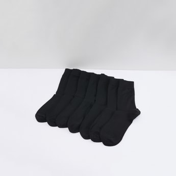 Set of 7 - Textured Crew Length Socks