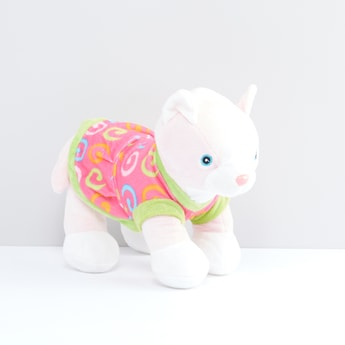 Cat Plush Toy with Printed Clothes