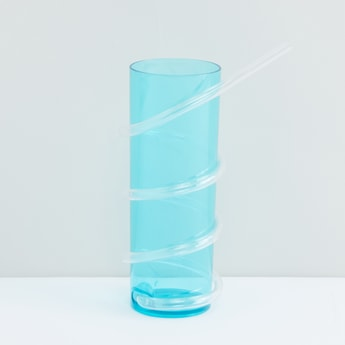 Cylindrical Glass with Straw