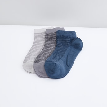 Set of 3 - Textured Ankle Length Socks