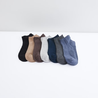 Set of 7 - Plain Ankle Length Socks