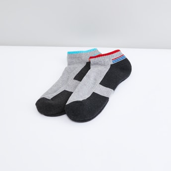 Set of 2 - Printed Ankle Length Socks