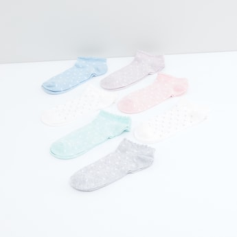 Printed Ankle Length Socks - Set of 7