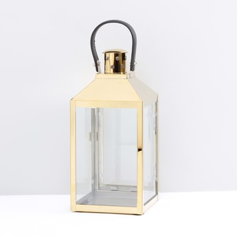 Lantern Shaped Candle Holder with Door