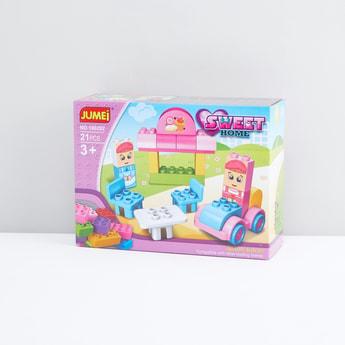 Jumei Sweet Home 21-Piece Blocks Set