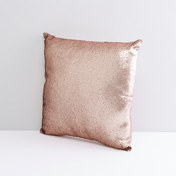 Sequin Detail Filled Cushion