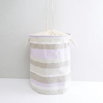 Striped Spring Laundry Hamper with Drawstring