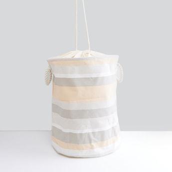Striped Spring Laundry Hamper