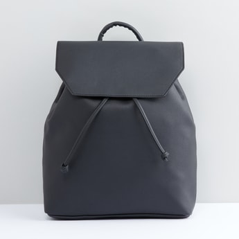 Multi-Compartment Backpack with Magnetic Snap Closure and Flap
