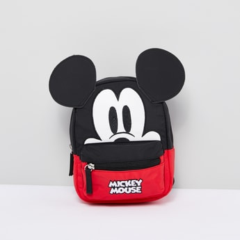Mickey Mouse Embroidered Backpack with Ear Detail