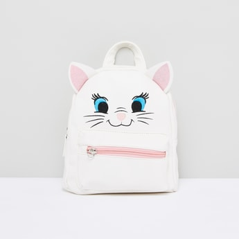 Embroidered Cat Face Backpack with Adjustable Straps