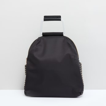 Stud Detail Backpack with Top Handle