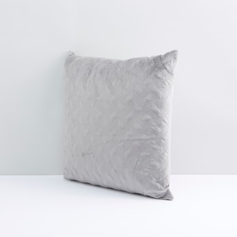 Chevron Textured Filled Cushion