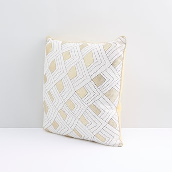 Square Shaped Printed Filled Cushion