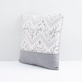 Printed Filled Cushion with Zip Closure