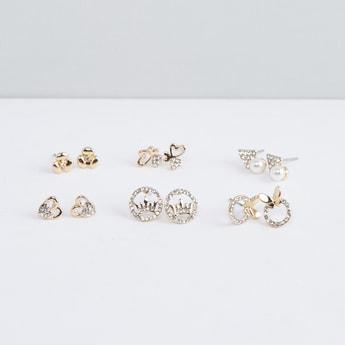 Assorted Stud Earrings - Set of 6