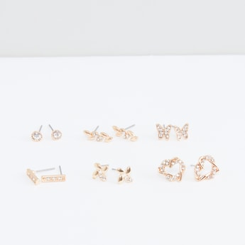 Assorted Studded Earrings - Set of 6