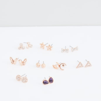 Assorted Earrings with Pushback Closure - Set of 9