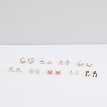 Assorted Stud Earrings - Set of 9