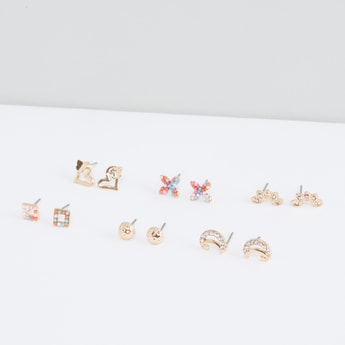 Assorted Stud Earrings - Set of 6