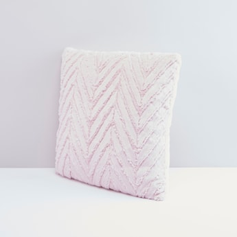 Striped Detailed Cushion with Zip Closure