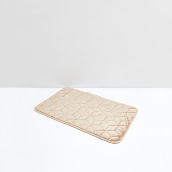 Quilted Memory Foam Bath Mat with Plush Finish