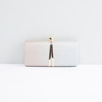 حقيبة كلاتش بسلسلة ميتاليك قابلة للفصل