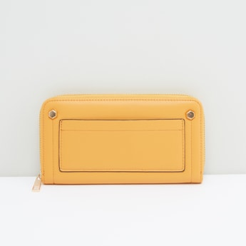 Multi-Compartment Wallet with Zip Closure